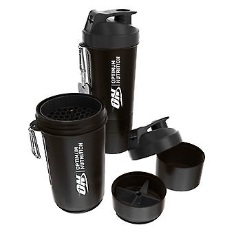 Optimum Nutrition Shaker with Compartments Black