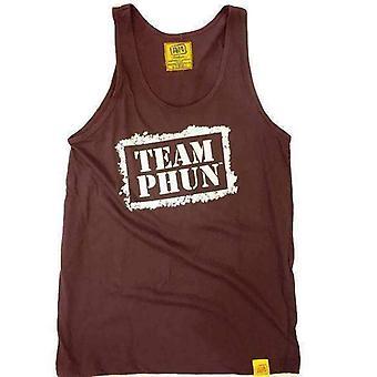 Team phun stencil tank top truffle