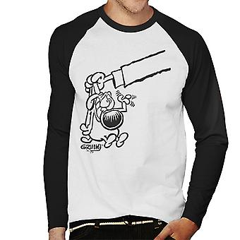 Grimmy Bad Dog Men's Baseball langärmelige T-Shirt
