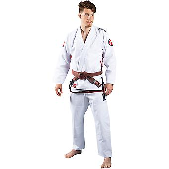 Scramble Athlete 4 Luxury 550gsm+ Brazilian Jiu-Jitsu Gi - White