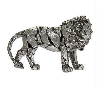 Natural World Lion Decoration figure Home Ornament Stylish 32x20cm silver