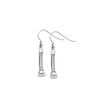 925 Sterling Silver Shepherd hook Reflections Medium Earrings Jewelry Gifts for Women