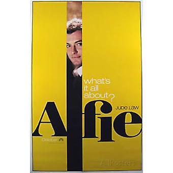 Alfie (enkelzijdig vooruit geel) (2004) originele Cinema poster