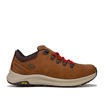 Mens Merrell Ontario Trainers In Brown- Lace Up Closure- Vibram Megagrip - M