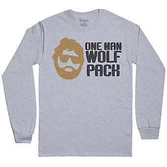 One Man Wolf Pack - Mens Long Sleeve T-Shirt
