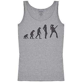Evolution To A Guitarist Chick - Womens Tank Top