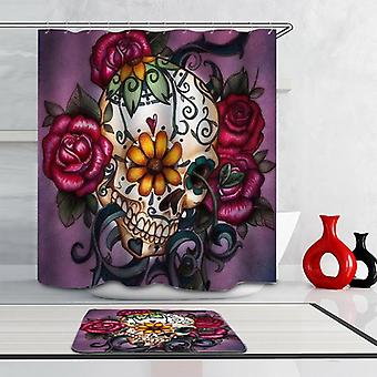 Skull And Roses Shower Curtain