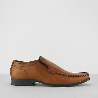 Base London Carnoustie menns voksaktig Leather Moccasin toe loafers Tan