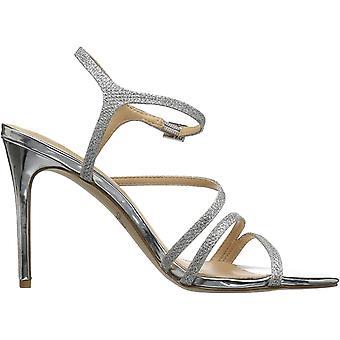 Jewel Badgley Mischka Women's Maddison Sandal, silver glitter, M110 M US