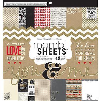 Mambi Mono-Sided Paper Pad 12'quot;X12'quot; 48/Pkg-You et; Moi