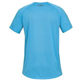 Under Armour Mens Mk1 Kurzarm gedruckt Wicking Mesh T-Shirt
