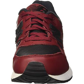 New Balance M530 Lux Leather Men's Rugby, Size 9, Color Burgundy/Black