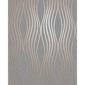 Papel de parede geométrico do luxo geométrico do brilho da onda de quartzo da decoração fina