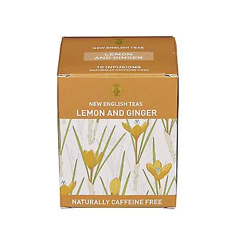 Lemon and ginger tea 10 individually wrapped teabags