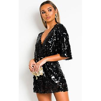 IKRUSH Damen Sally Sequin Playsuit