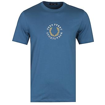Fred Perry broderad logo Midnight Blue T-shirt