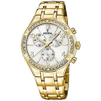 Festina boyfriend F20395-1 Watch-kvinders Dor Steel Watch