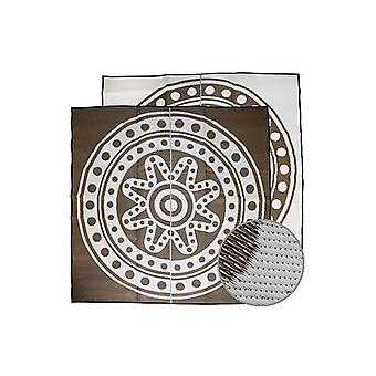 Circle Time Aboriginal Design Recycled Mat Bronze And White