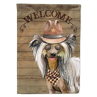 Chinese Crested Country Dog Flag Canvas House Size