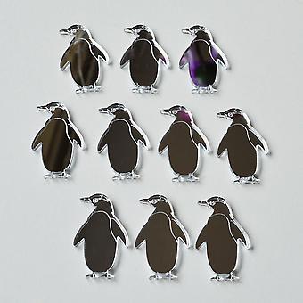 Pinguin graviert Mini Craft Größe Acryl Spiegel (10Pk)