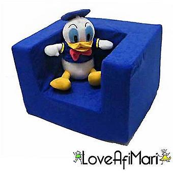 Chambre assortie définit le fauteuil en mousse confortable pour enfants en bleu. Doux, coloré, confortable et léger avec une couverture démaquillable (Jouet doux non inclus)