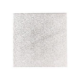 "Culpitt 10"" (254mm) einzelne dicke Quadrat Turn Edge Kuchen Karten Silber Farn (1,75mm dick) - Boxed 10"