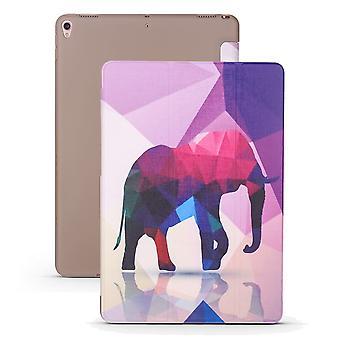 iPad Air 3 (2019) -kotelolle, Folio PU -nahka + TPU 3-kertainen pidike,Elefantti