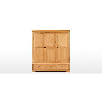 New Constance Solid Oak & Veneer 3 Door 2 Drawer Wardrobe RRP £949