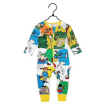 Pippi Longstocking Villekulla Pyjamas (White) Martinex