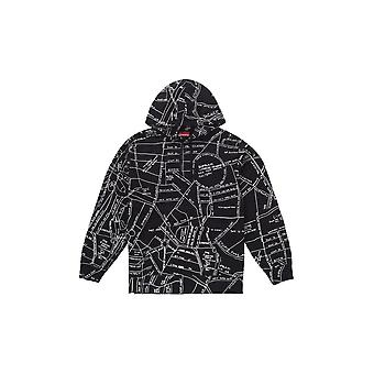 Supreme Gonz bestickt Karte Kapuzen Sweatshirt Schwarz - Kleidung