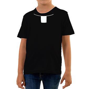 Reality glitch priest collar kids t-shirt
