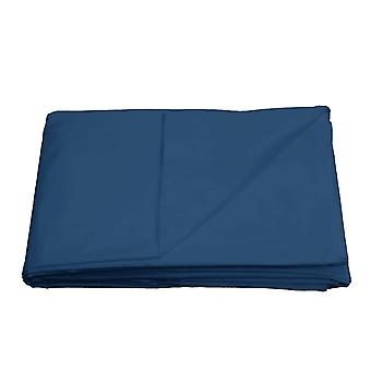Flat Sheet Bed Linnen Beddengoed Soft Easy Care Cotton Blend - Blauw - Super King