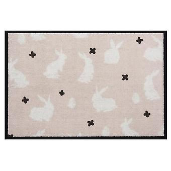 Design doormat dirt trap mat Easter bunny beige cream Easter decoration 40x60 cm