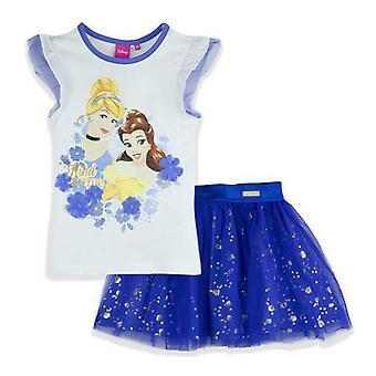 Jenter ER1292 Disney prinsesse kort erme T-Shirt & Tutu skjørt angi størrelse-3-6 år