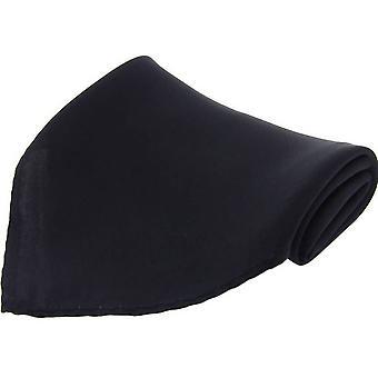David Van Hagen Diagonal Twill Silk Pocket Square - Black