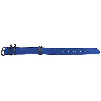 N.a.t.o zulu g10 style watch strap blue 5 ring with black buckle 20mm,22mm