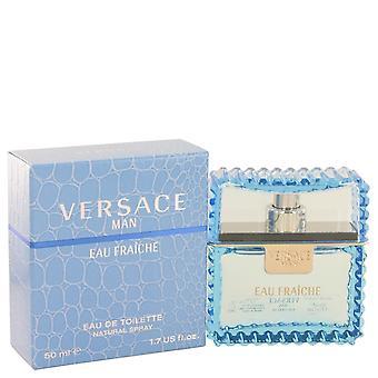 Versace Man av Versace Eau Fraiche Eau De Toilette Spray (blå) 1,7 oz/50 ml (män)