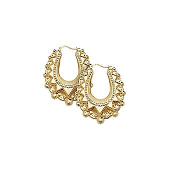 Eternity 9ct Gold Large Traditional Creole Hoop Boucles d'oreilles