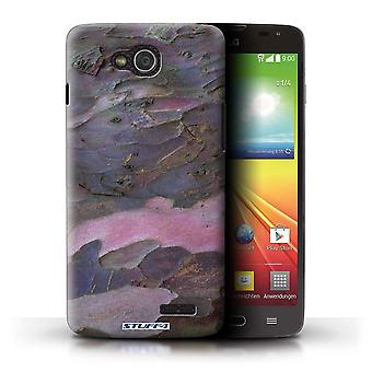 STUFF4 Case/Cover for LG L90 Dual/D410/Curved/Purple/Tree Bark