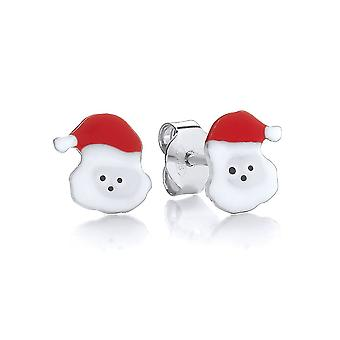 David Deyong Children's Sterling Silver & Enamel Christmas Santa Claus Stud Earrings