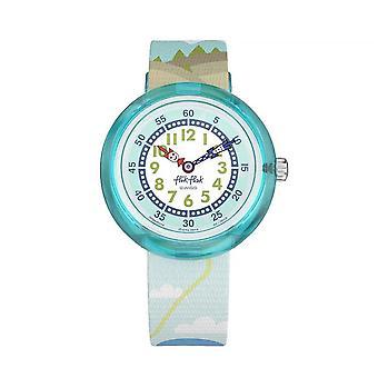 Flik Flak Watches Fbnp118 Parabeaver Light Blue Textile Watch