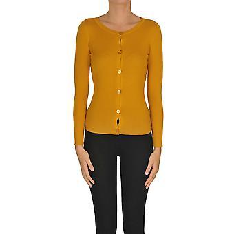 Alyki Ezgl111012 Dames's Orange Cotton Cardigan
