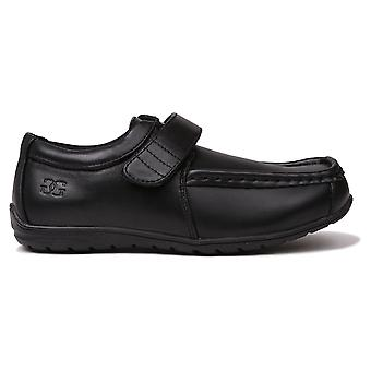 Giorgio Kids Bexley Vel Casual Formal Cushioned Hook And Loop Padded Shoes
