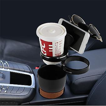 Multifunctional 360 degree rotation 3 rings rack car water cup sunglasses phone holder key storage box
