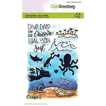 CraftEmotions Clear Stamps A6 - Ocean 6 Carla Creaties (03-20)