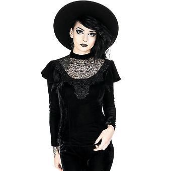 Restyle-vervloekte koningin blouse-Black Lace