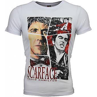 T-shirt - Scarface Frame Print - weiß