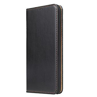 For iPhone XR Case Leather Flip Wallet Folio Protective Cover with Stand Black