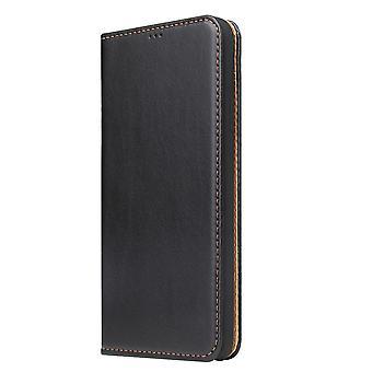 Para iPhone XR Case Couro Flip Wallet Folio Capa protetora com stand black
