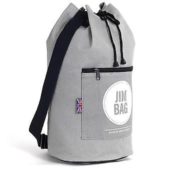 JIMBAG Grey Travel Fitness Gym Drawstring Duffle Outdoor Bag